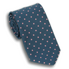 Navy with Pink Polka Dots Poplin Tie