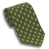 Olive with Mini Paisley Pattern Silk Tie