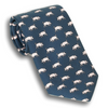 Navy with Pigs Silk Tie