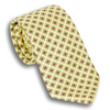 Pale Yellow with Red Diamond Motif Silk Tie