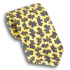 Gold Tie with Small Paisley Patterned Silk Tie