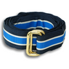Andover Navy, White, and Royal Stripe Ribbon Belt