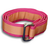 Pink with Wide Salmon Stripe Ribbon Belt