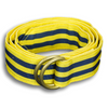 Yellow and Navy Striped Ribbon Belt