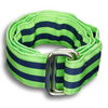 Lime Green and Navy Striped Ribbon Belt