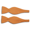 Orange with Square Pattern Silk Butterfly Bow Tie