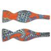 Orange with Paisley Pattern Linen Butterfly Bow Tie