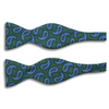Paisley Print Motif Silk Butterfly Bow Tie