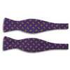 Dark Purple with Paisley Motif Silk Butterfly Bow Tie