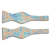 Bright Paisley Pattern Silk Butterfly Bow Tie