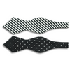 Black with Silver Polka Dots and Striped Butterfly with Point Bow Tie