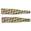 Yellow and Navy Pattern Silk Bat Wing Bow Tie
