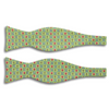 Pig Donkey and Fence Motif Silk Butterfly Bow Tie