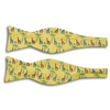 Soft Yellow with Giraffe and Palm Trees Motif Silk Butterfly Bow Tie