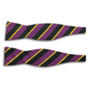 Purple with Black and Gold Stripes Silk Bow Tie