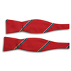 Red with Multicolored Stripe Silk Bow Tie
