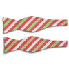 Pink, Lime, and White Striped Silk Bow Tie