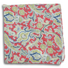Multicolored Paisley Patterned Linen Pocket Square