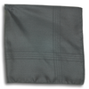 Black with Stitched Striped Border Pocket Square
