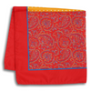 Orange and Red Polka Dot and Paisley Pocket Square
