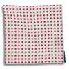 White with Red Polka Dot and Navy Border Pocket Square