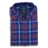 Viyella Navy and Multicolored Plaid Sport Shirt