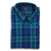 Viyella Navy and Forest Tartan Plaid Sport Shirt