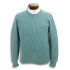 Pure Cashmere Waffle Knit Crew Neck Sweater