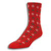 Christmas Trees and Snow Flakes Motif Wool Socks