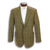 Tabacco with Pumpkin Windowpane Sport Coat