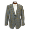 Medium Grey Tweed with Khaki and Navy Windowpane Sport Coat