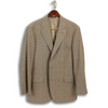 Soft Brown Herringbone with Sky Blue and Soft Maroon Windowpane Sport Coat