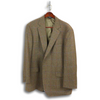 Brown Wool Tweed Jacket with Purple and Red Windowpane (48L)