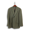 Deep Olive Thornproof Jacket with Brick Red Windowpane
