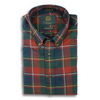 Red, Green, and Navy Plaid Viyella Sport Shirt