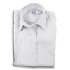Lavender Stripe 80's 2-Ply Pinpoint Ladies Dress Shirt
