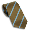 Brown and Azure Striped Silk Tie