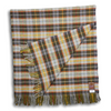 Grey, Yellow, and Orange Plaid Wool Blanket