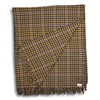Multicolored Tattersall with Tan Ground Wool Blanket