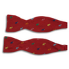 Multicolored Elephant Silk Butterfly Bow Ties