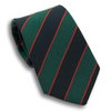 Navy and Green Stripe with Thin Red Stripe Irish Poplin Tie
