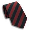 Wine and Navy with Thin Green Stripe Irish Poplin Tie