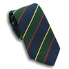 Navy and Green Stripe with Thin Red and Gold Stripe Irish Poplin Tie