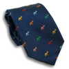 Multicolored Elephants Silk Tie