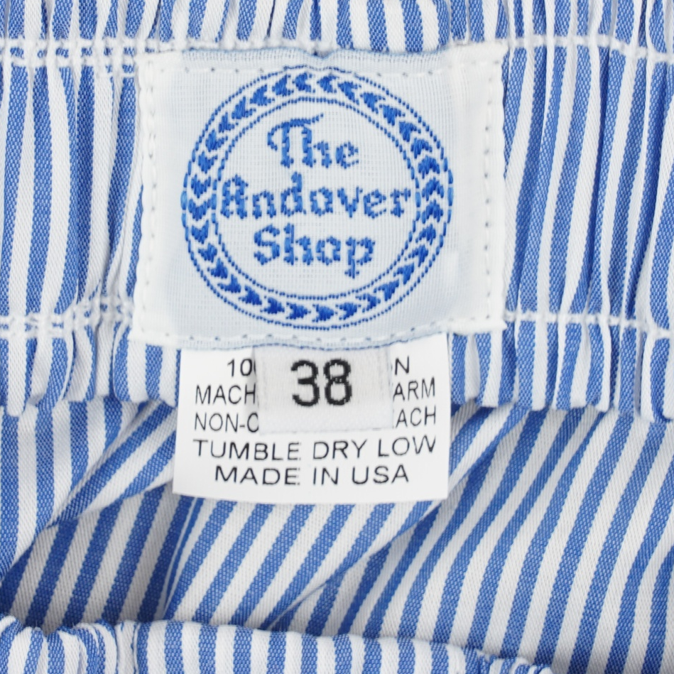 Blue and White Banker Stripe Boxer Shorts
