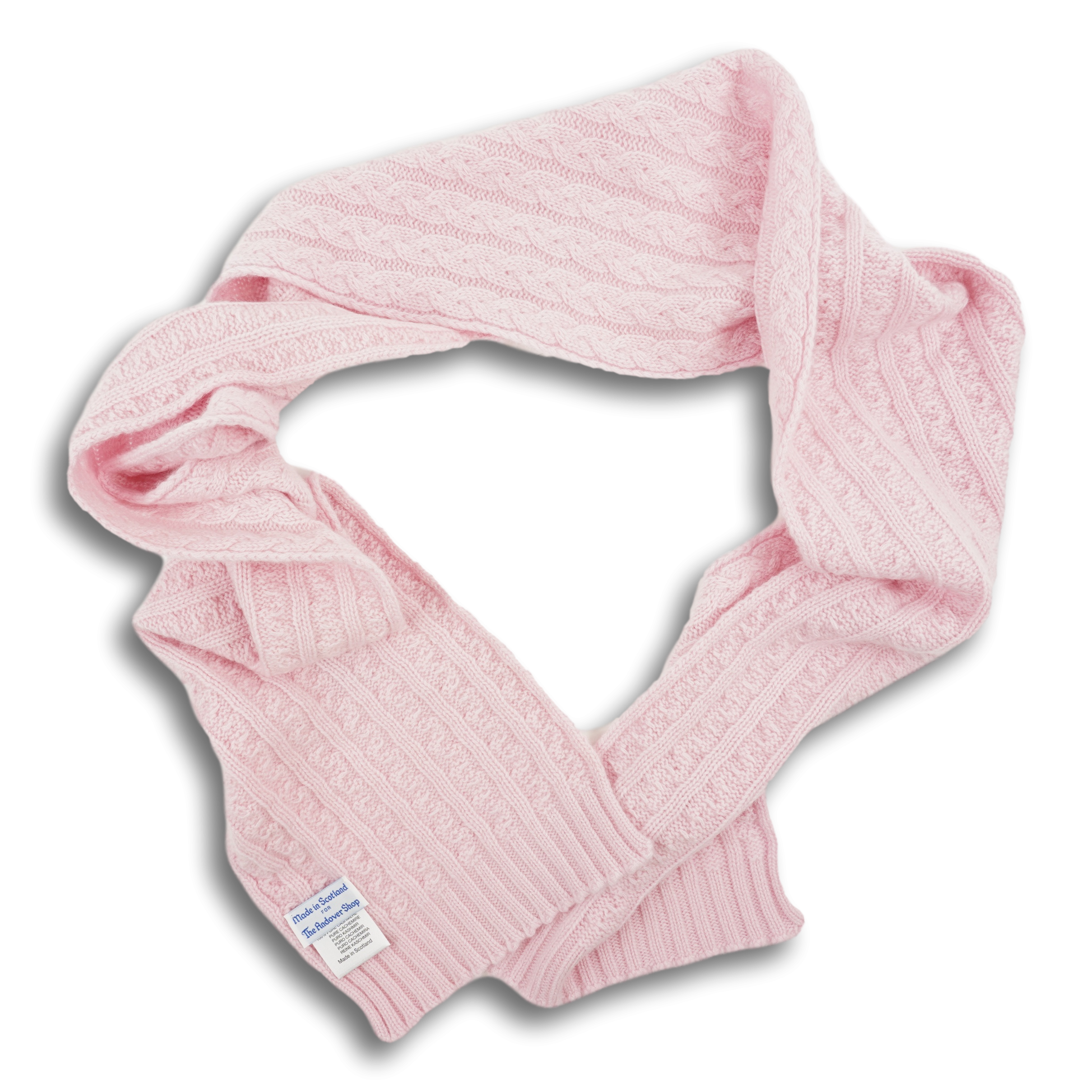 Cashmere Cable Knit Scarf