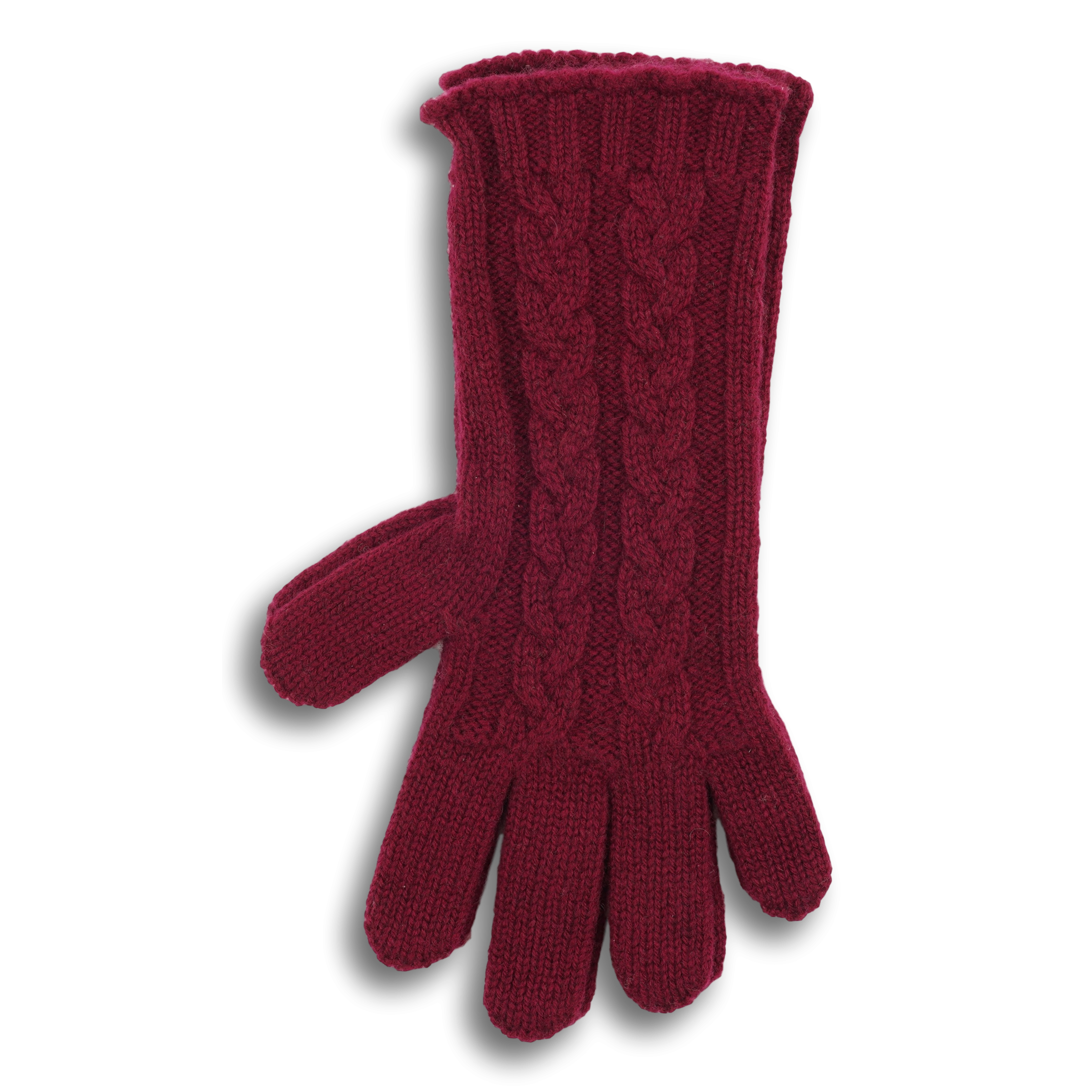Cashmere Cable Knit Gloves
