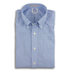 Blue Gingham Broadcloth Button Down Dress Shirts