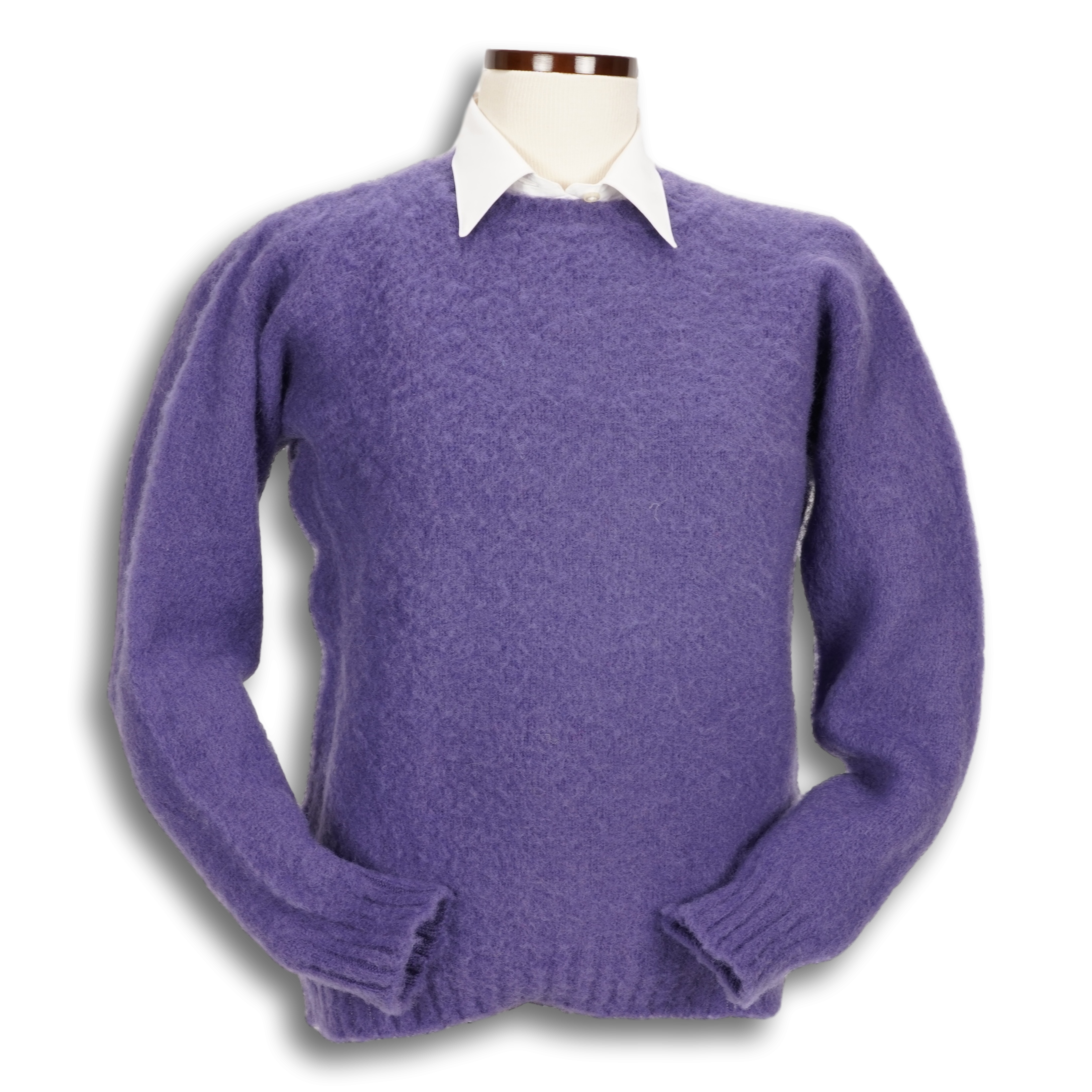Ladies Brushed Shetland Crew Neck Sweater