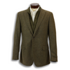Light Olive 100% Virgin Italian Wool Zip-In Liner Sport Coat